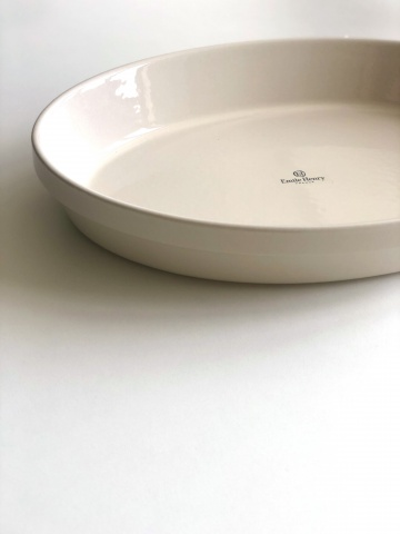 Форма для запекания овальная XL, цвет: крем