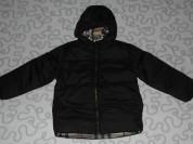 Новая куртка (пуховик) с капюшоном, 110-116 см