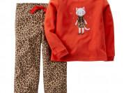 Флисовая пижама Carters с кошкой