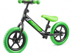 Детский беговел Small, черно-зеленый
