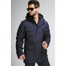 Куртка мужская демисезонная 078  Nikolom т.синяя (Беларусь)