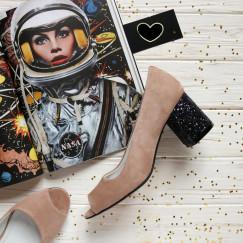Велюровые туфли на удобном каблучке. New Collection 18