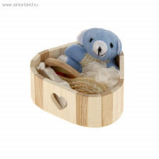 Набор банный в деревянной корзине 5 предметов