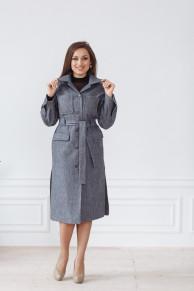 Пальто женское демисезонное 22107 (серый)