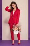 блуза, брюки, жакет Dilana VIP Артикул: 1502 красный