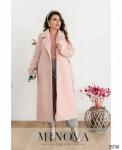 Пальто №318-1-Пудровый