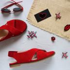 Замшевые сандалии. New Collection 18
