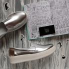 """Удобные слипоны в эксклюзивном велюре """"серебро""""."""
