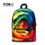 For U Designs Vintage Style Floral Bag Cute Emoji Bag