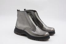 Ботинки №379-17 никель кожа (астра 14 черная + серый след)