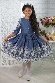 """Платье для девочки """"Джинс Ажур"""""""