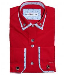 Рубашка для мальчика, Dast cardin, красная