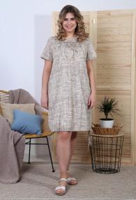 Платье Флора-1 Кулирка ВЫШИВКА
