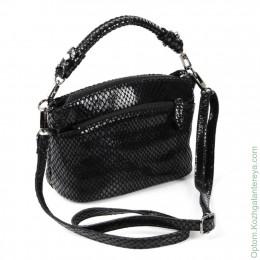 Женская кожаная сумка 6016-А196 Блек