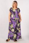 Платье Анджелина-2 сирень/цветы