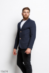 Мужской пиджак 15674 темный синий