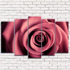 Модульная картина Бархатная роза 5-1