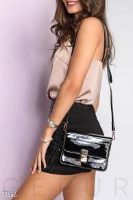 Лаковая сумка-messenger