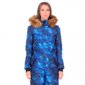 Женский зимний комбинезон Heaven-2, темно-синий-белый