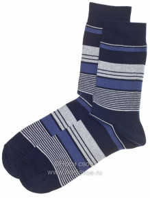 Н405 Мужские носки (темно-синий)