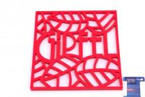 0214 GIPFEL Подставка под горячее GLUM 17х17х0,8см красная М