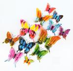 Наклейка «3D Бабочки», цветные 12 штук