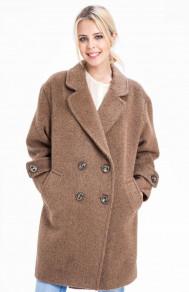 Женское пальто оверсайз с рисунком диагональ SUCCESS