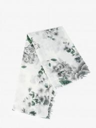 Палантин (платок) PALANTIN FIORI BIANCO VERDE