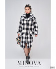 Пальто №495-1-Черно-Белый