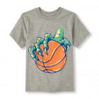 Boys Short Sleeve Dino Basketball Graphic Tee.ЧП!