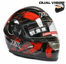Шлем VCAN V210-B CRAZY SKULL Bluetooth USA