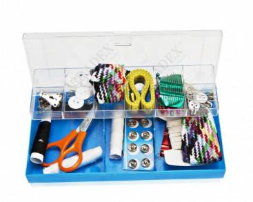Набор для шитья, 100 предметов в пластиковой коробке (Sewing