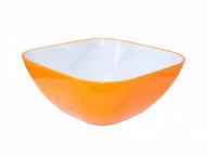 Пиала 20 см квадратная оранжевая (salad bowl small)