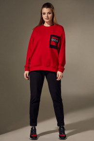 брюки, свитшот Andrea Style Артикул: 00302 красный