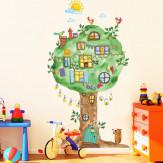 Наклейка многоразовая интерьерная «Сказочное дерево»