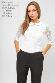 Блуза нарядная из гипюра 2064