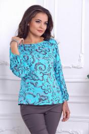 Блуза 254. Голубой. Вискоза