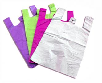 Пакет майка, 24*38 см, 8 мкм (24+11*38, цветная/микс)