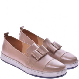 Подростковые комбинированные туфли с бантиком