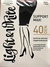 Light&White SUPPORT maxi 40 черн. Колготки