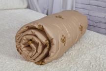 Одеяло овечья шерсть 2сп (300гр/м) тик