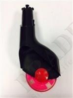 Колесо для Бибикара полиуретановое с ножкой 2 шт (90mm black