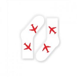 FlyByGauser Красные самолеты на белом