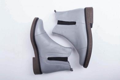 Ботинки № 409-11 серая кожа