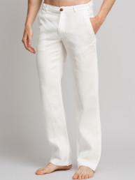 Мужские льняные брюки / ЦВЕТ:  белый