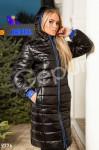 Дутое черное пальто