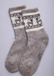 Носки из шерсти 100% серый с  оленями, Монголия