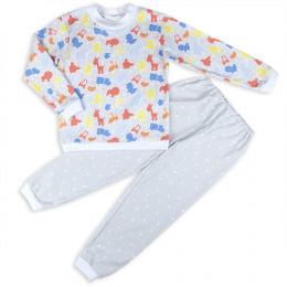 """Пижама """"В мире животных"""" IDEA KIDS длинный рукав, штанишки н"""