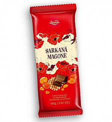 """Шоколад """"Красный мак"""" с карамелью и вафлей 100 гр"""