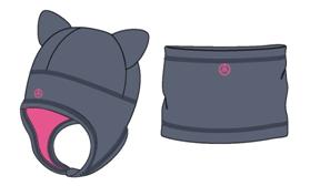 Комплект: шапка и шарф-снуд W47101 GREY